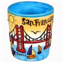San Francisco Hand Painted Shotcup