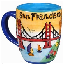 San Francisco Puff Hand Painted Yellow Round