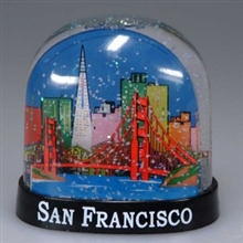 San Francisco Golden Gate Bridge & Skyline Globe