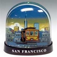 San Francisco Cable Car & City Skyline Waterglobe