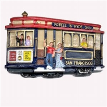 San Francisco Polyresin Cable Car Magnet