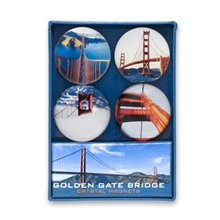Golden Gate Bridge Crystal Magnet Set