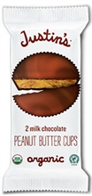 Justin Organic Milk Chocolate Peanut Butter Cups