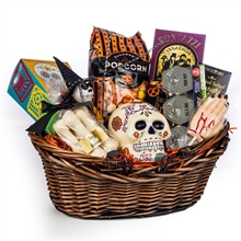 Halloween gift basket trick or treat holiday gift baskets sf spooky hand halloween basket negle Image collections
