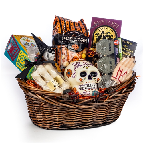 Baby Gifts For Halloween : Spooky hand halloween basket