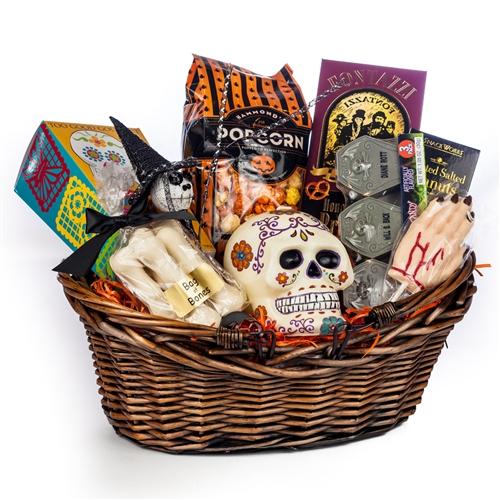 Spooky Hand Halloween Basket