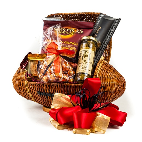 Touchdown Football Gift Basket