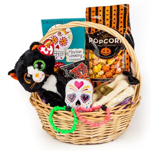 Bridal Shower Gift Basket Climbing On House Halloween: Spooky Halloween Gift Basket