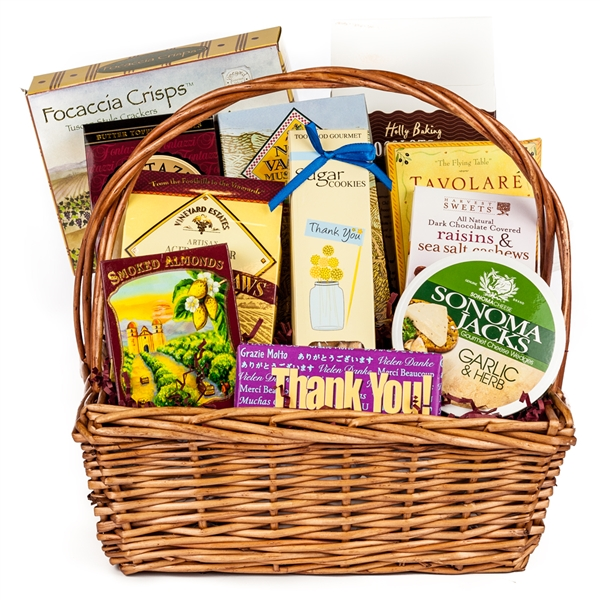 Baby Gift Baskets San Francisco : Gourmet thank you basket gifts by san