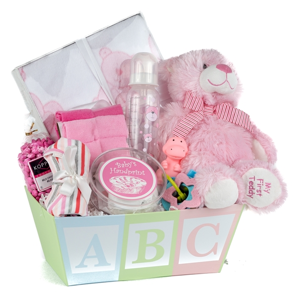 Baby Gift Baskets San Francisco : Baby girl hand print