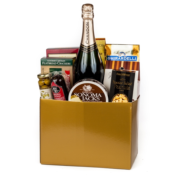Baby Gift Baskets San Francisco : Thanks a million gift basket wine and champagne gifts by