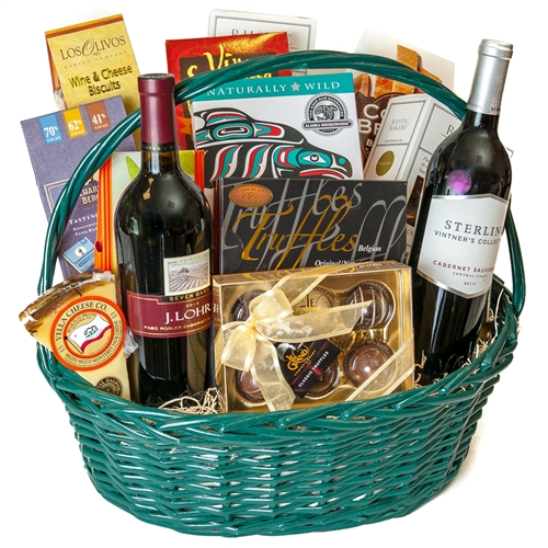 Bridal Shower Gift Basket Climbing On House Halloween: Chocolate And Wine Galore