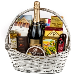 Sparkling Wine Congratulations Gift Basket - Wine and Champagne Gifts By San Francisco Gift Baskets