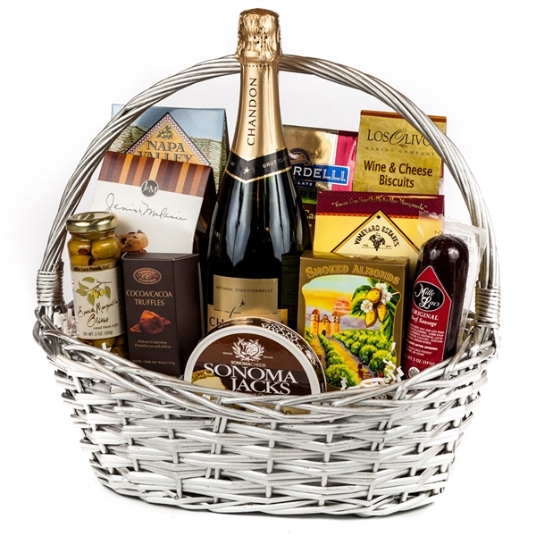 sparkling wine congratulations gift basket   wine and