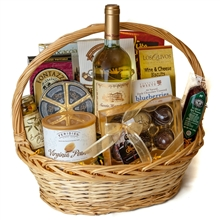 Deluxe Wine and Chocolate Gift Basket