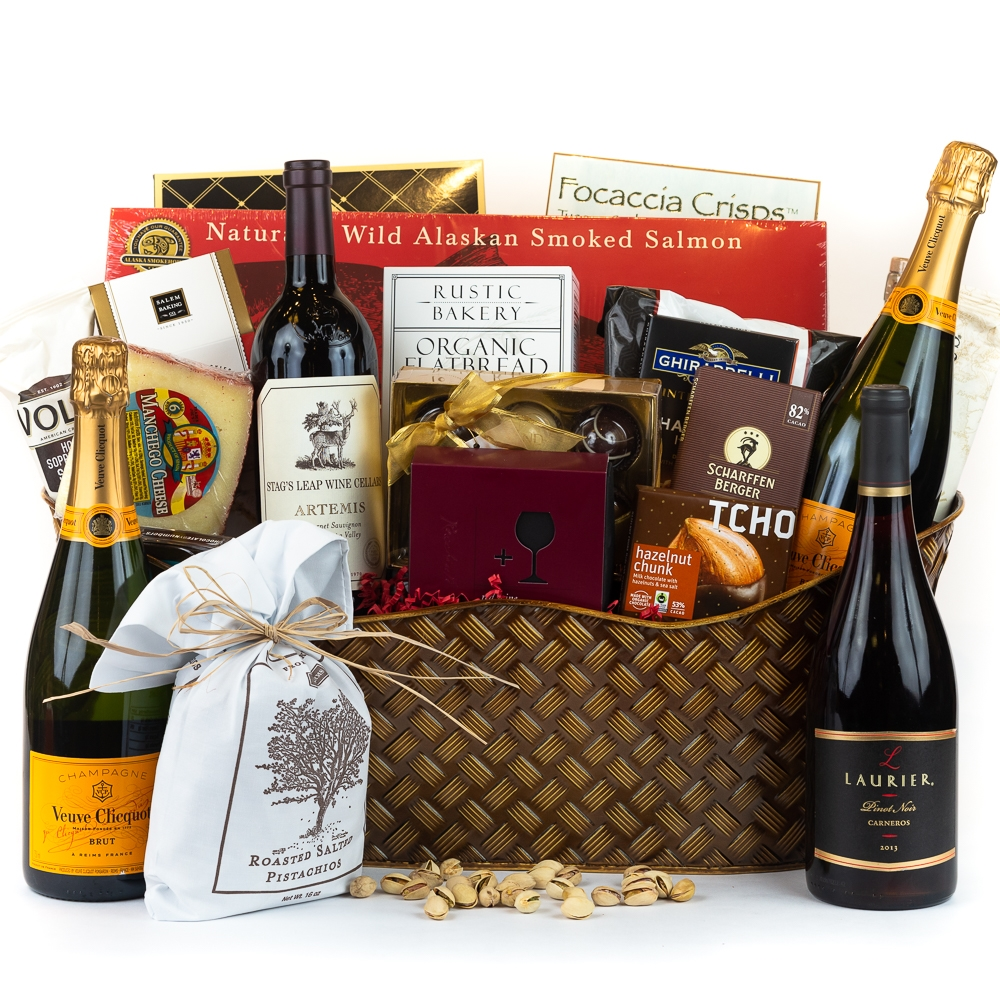Celebration gift basket wine and champagne gifts by san