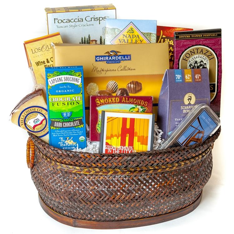 Golden Gate Bridge Chocolates Gift Basket