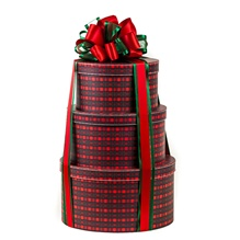 Three Tire Classic Tartan Plaid Gift Tower