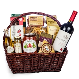 Italian Evening Gift Basket - Wine and Champagne Gifts By San Francisco Gift Baskets