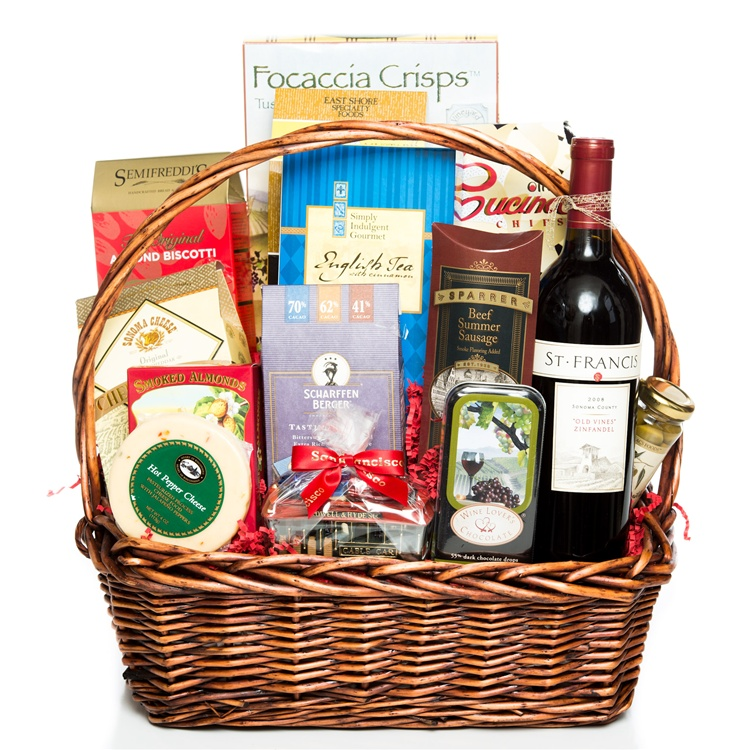 Bridal Shower Gift Basket Climbing On House Halloween: Wine And Chocolate Gift Basket
