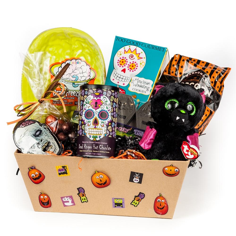 Bridal Shower Gift Basket Climbing On House Halloween: Haunted Halloween Gift Basket