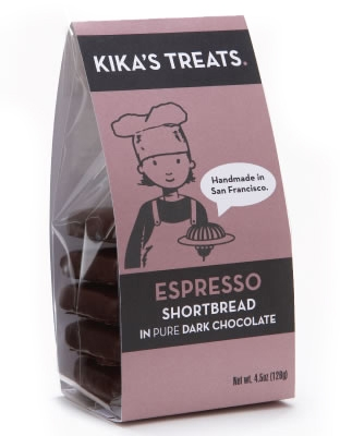 Kika's Treats Espresso Shortbread