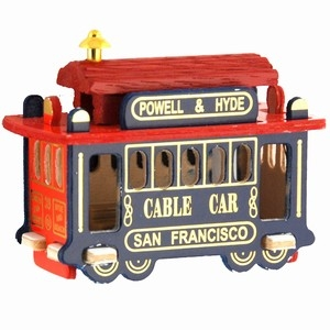 San Francisco Wooden Cable Car Magnet
