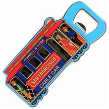 San Francisco Cable Car Bottle Opener Magnet