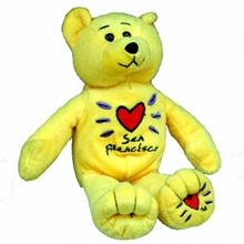 Yellow San Francisco Plush Bear