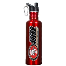 San Francisco 49ers Red Stainless Steel Water Bottle