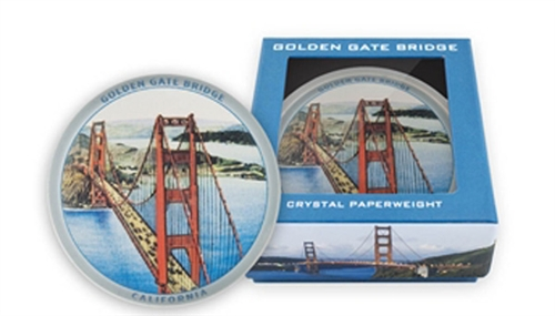 Golden Gate Bridge Vintage Crystal Paperweight