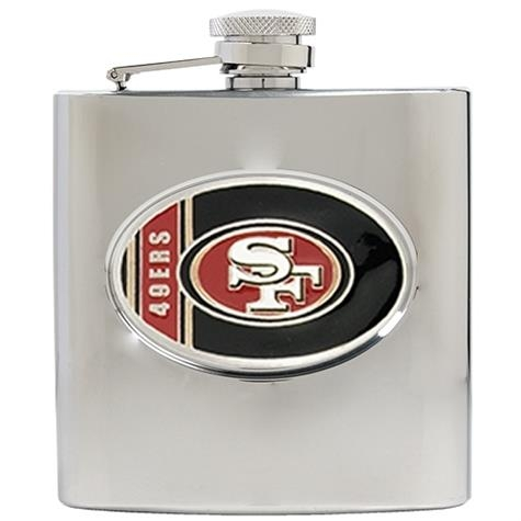 San Francisco 49ers 6oz Stainless Steel Flask