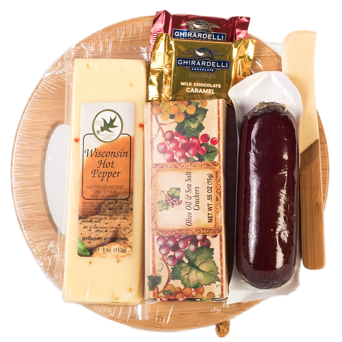 Summer sausage cheese board