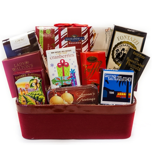 Red Velvet Holiday Gift Basket