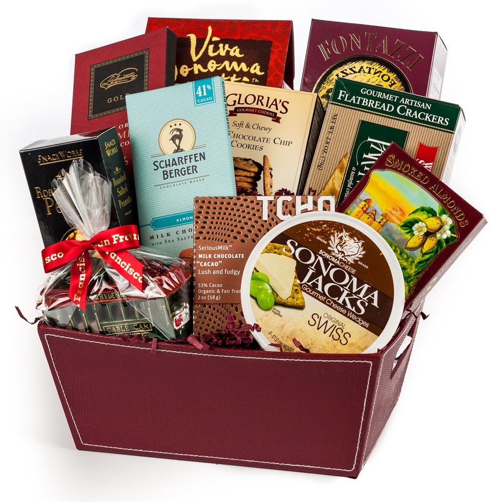 San Francisco Treats Gift Basket San Francisco Gifts By San Francisco Gift Baskets