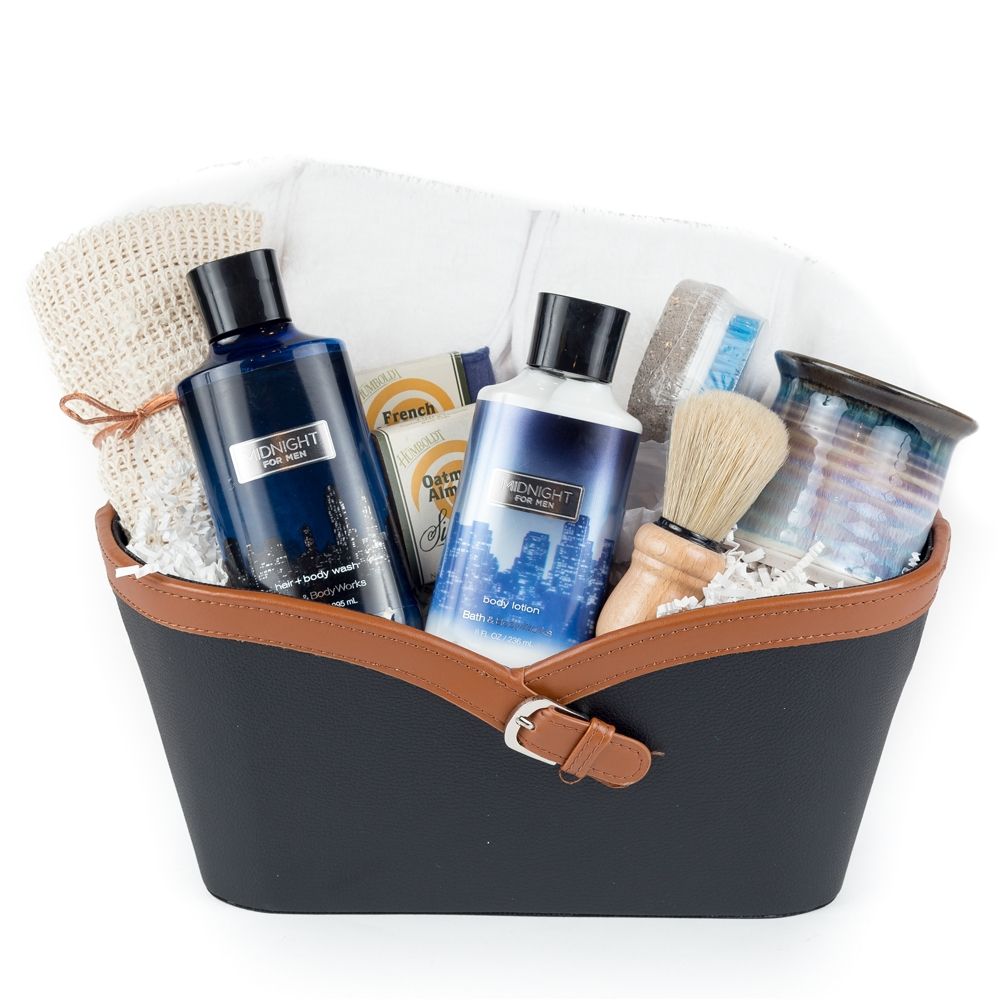 Deluxe bath body works for men gift basket negle Image collections