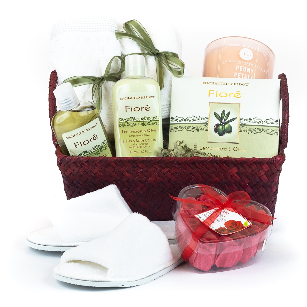 Bridal Shower Gift Basket Climbing On House Halloween: Relaxation Time Gift Basket