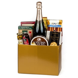 Thanks A Million Gift Basket - Wine and Champagne Gifts By San Francisco Gift Baskets
