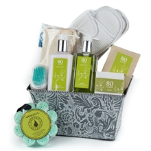Organic 80 Acres Spa Gift Basket, Pamper Spa Gift Basket