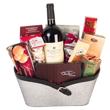 Silver Wine Gift Basket