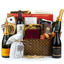 Celebration Gift Basket - Wine and Champagne Gifts by San Francisco Gift Baskets