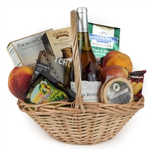 Wine and Fruit Gift Basket